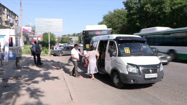 Такого количества автобусов на одном маршруте шымкентцы еще не видели