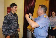Глава полиции ЮКО наградил чемпионов-полицейских по қазақ күресі