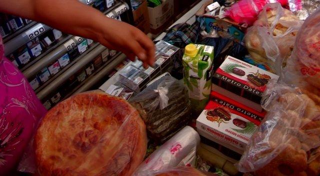 Насвай продают вместе с продуктами питания.