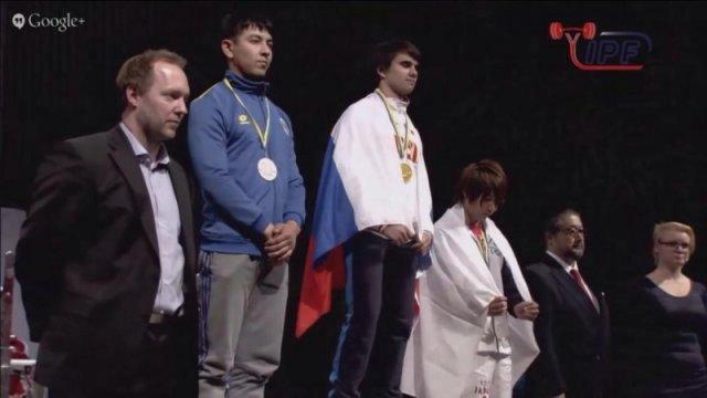 Воспитанник КГУ ЮКО СДЮСШОР занял 2 место на Чемпионате Мира по жиму лежа