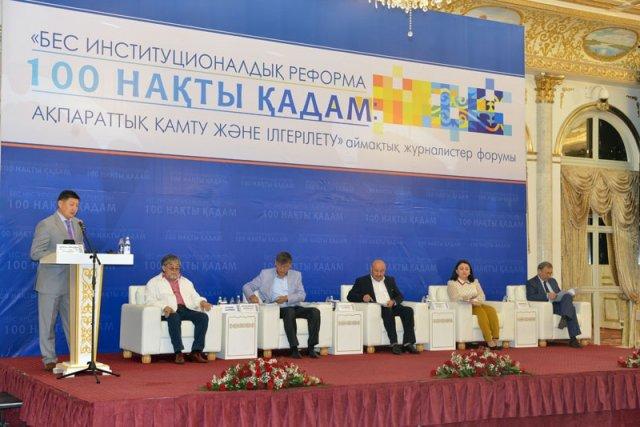Впервые в Шымкенте прошел региональный форум журналистов