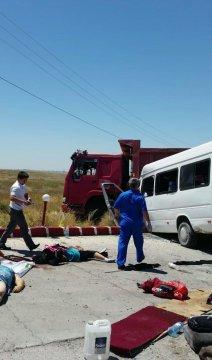Страшная авария, произошедшая сегодня на въезде в Шымкент, унесла жизни 13 человек