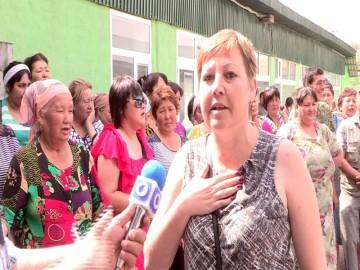 Жители Ленгера протестуют против закрытия старого базара