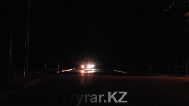 улица Шымкента без освещения