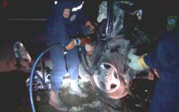 Ночная авария на Ташкентской трассе