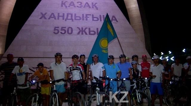 550 километров за два дня проехали шымкентские велосипедисты