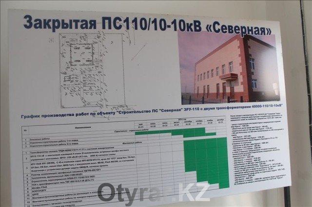 """Подстанция """"Северная"""" заработала в микрорайоне """"Нурсат"""" в Шымкенте"""