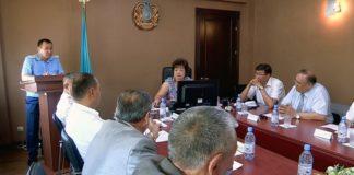 Заседание общественного совета по обеспечению законности при прокуратуре Южно-Казахстанской области