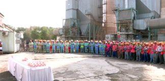 На предприятии отметили миллион человекочасов без несчастных случаев на проекте модернизации завода АО «Шымкентцемент»