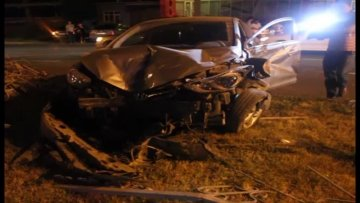 Авария на проспекте Кунаева