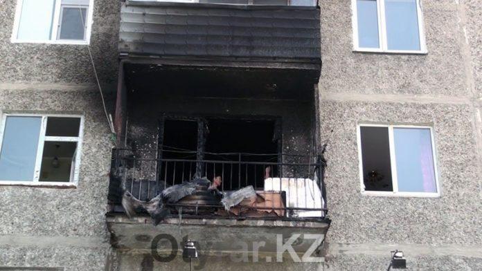 Пожар в квартире по ул. Жангельдина