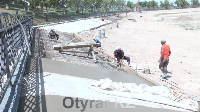 Еще одно место отдыха в Шымкенте строители планируют сдать раньше срока