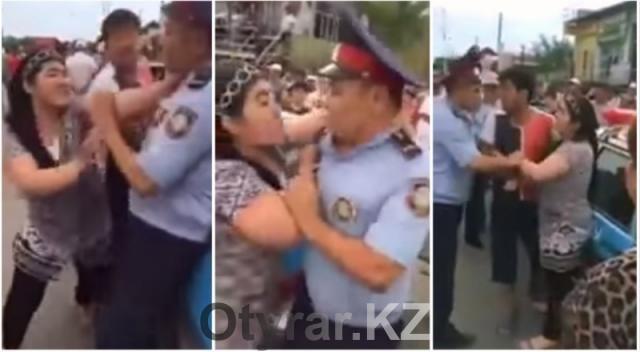 В ЮКО осуждена нападавшая на полицейских женщина