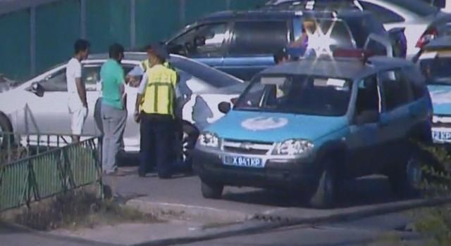 В Шымкенте задержан пьяный водитель вооруженный пистолетом
