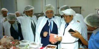 Бейбут Атамкулов ознакомился с работой фабрики и высоко оценил качество выпускаемой продукции
