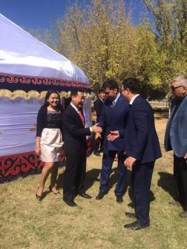 Аким г.Шымкент Габидулла Абдрахимов принял участие в торжественном мероприятии, посвященным 30-летию Шымкентского нефтеперерабатывающего завода.
