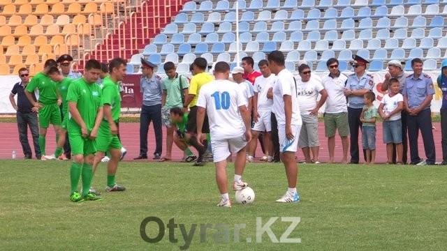 Силовые структуры Толебийского района разыграли ценные призы в футбольном турнире