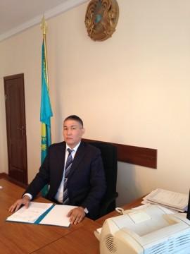 Председатель суда г. Кентау Ерлан Сералиев.