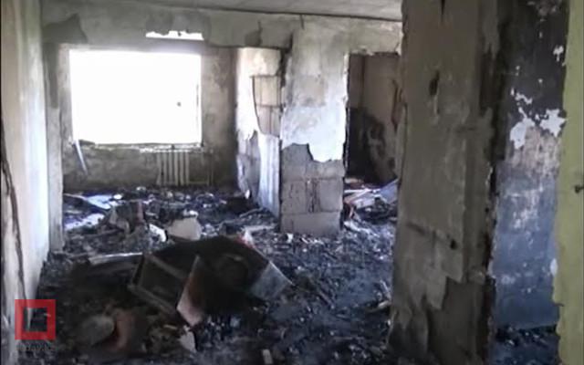 Пожар в жилом доме в Кентау