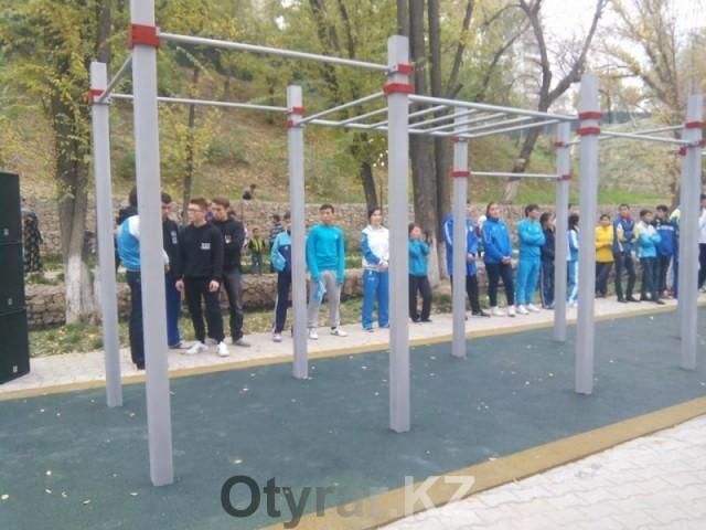 Новая спортплощадка для Street workout движения появилась в Шымкенте
