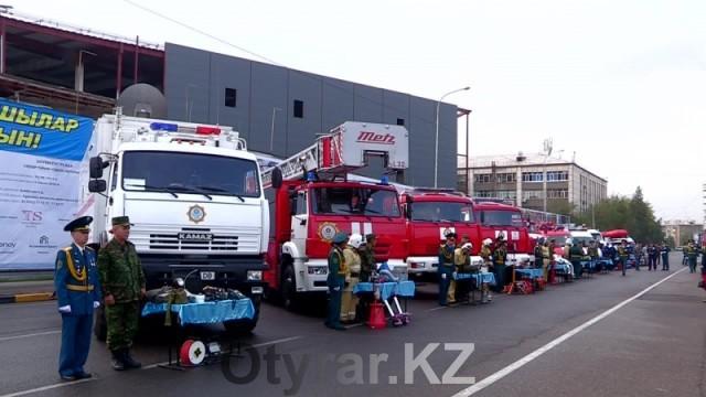 Спасатели ЮКО празднуют 20-летие своей службы. Пожарная техника