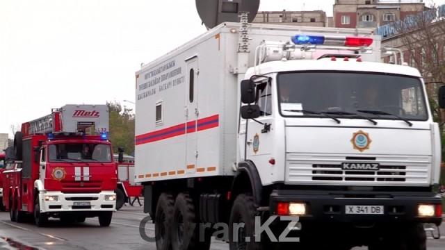Спасатели ЮКО празднуют 20-летие своей службы. Пожарная техника. ЕвроКамАЗ