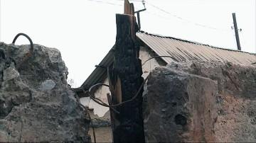 Пожар. Саманный дом
