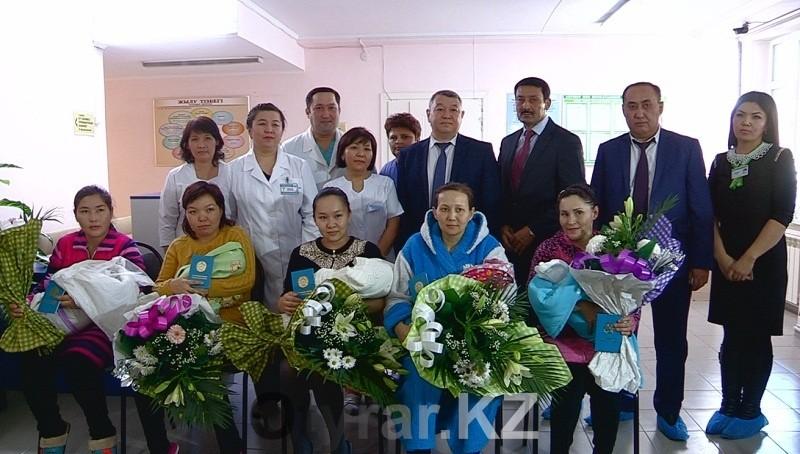 ЦОНы поздравили детей родившихся в канун Дня Независимости РК