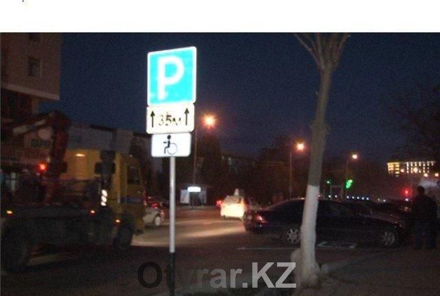 Сто тысяч тенге - штраф за парковку на месте для инвалидов