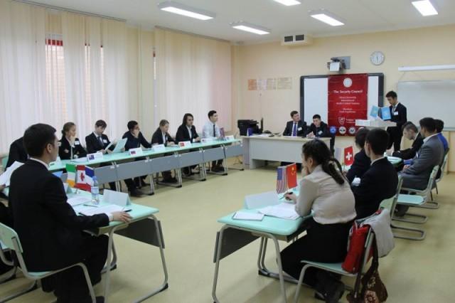 Международная конференция Модели ООН в НИШ ФМН Шымкента