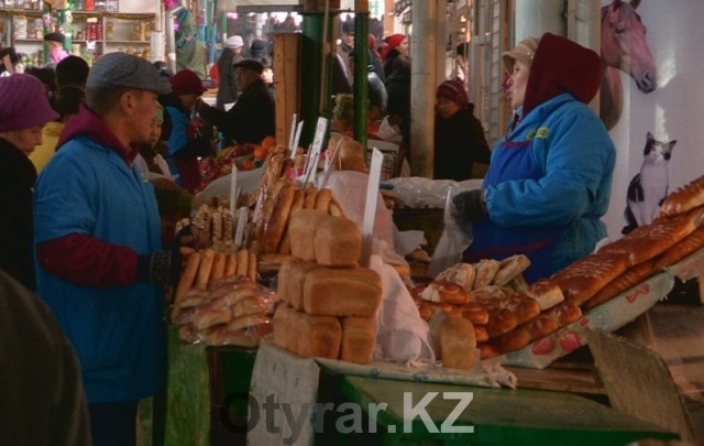 С начала года цена на формовой хлеб в Шымкенте не изменилась