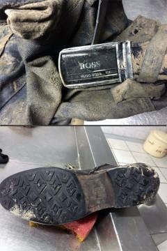 На трупе были лишь джинсы и ботинки.