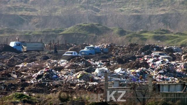 Несколько гектаров земли в Шымкенте незаконно превращены в мусорный полигон