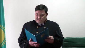 Абинур Карабаев, судья.