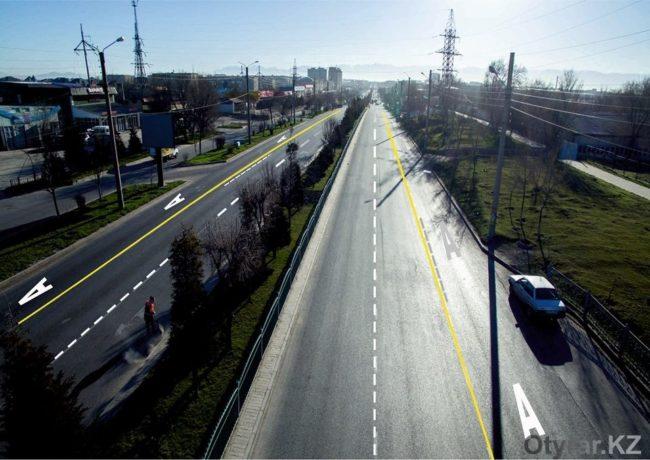 На шымкентских автодорогах появятся желтые полосы для автобусов