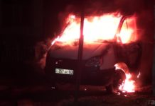 В Шымкенте после попытки угона сгорела бортовая ГАЗель