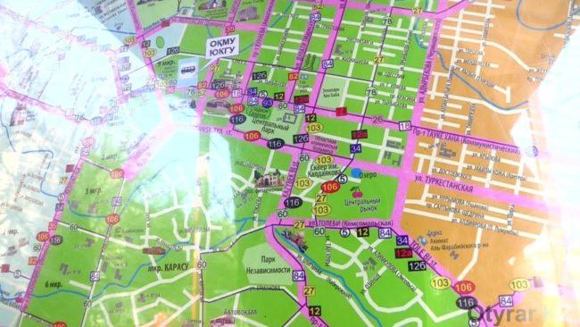 Информационные карты на остановках
