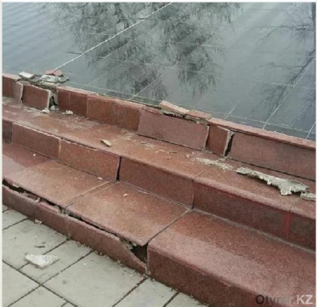 Очередной вандализм в Шымкенте или качество проведенных работ?