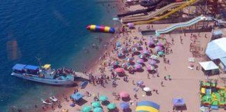 Пляж на Иссык-куле