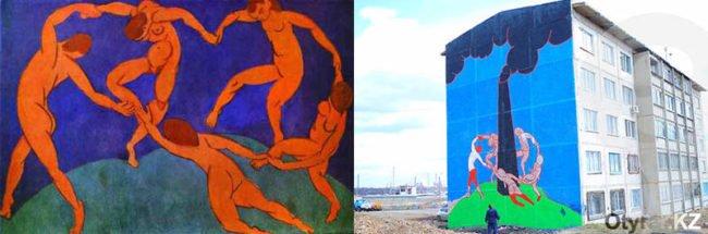 Это то самое легендарное полотно Матисса и граффити Каса
