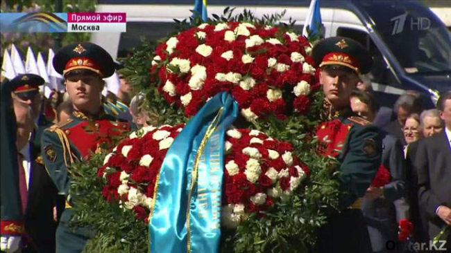 У могилы Неизвестного Солдата в Москве прозвучал гимн Казахстана