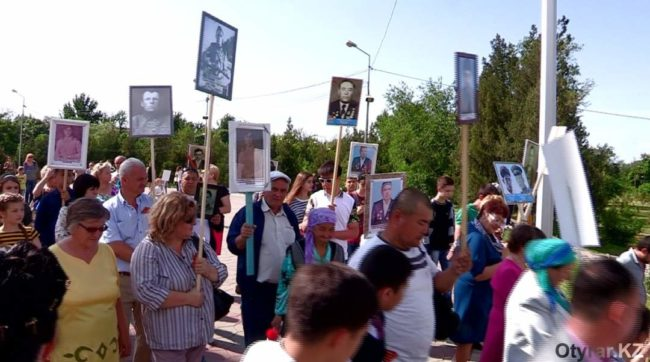"""Второй """"Бессмертный полк"""" прошел 9 мая в Шымкенте"""