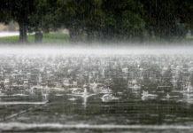 Сильный дождь. Ливень