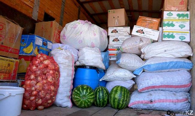 Караван с местной сельхозпродукцией отправляется в Астану
