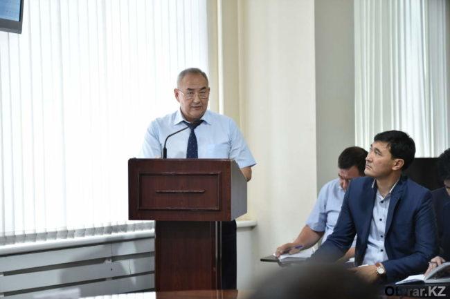 Отчет руководителя правового отдела аппарата акима города Шымкента Нуралы Кыргызалиева