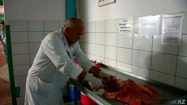 Визуальная проверка мяса в лаборатории