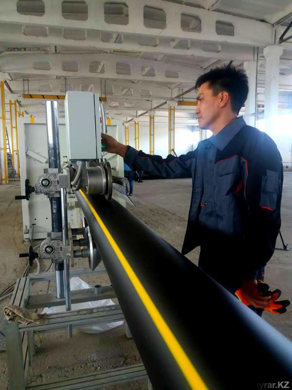 Шымкентский завод по выпуску полиэтиленовых и ПВХ-труб конкурирует с импортной продукцией