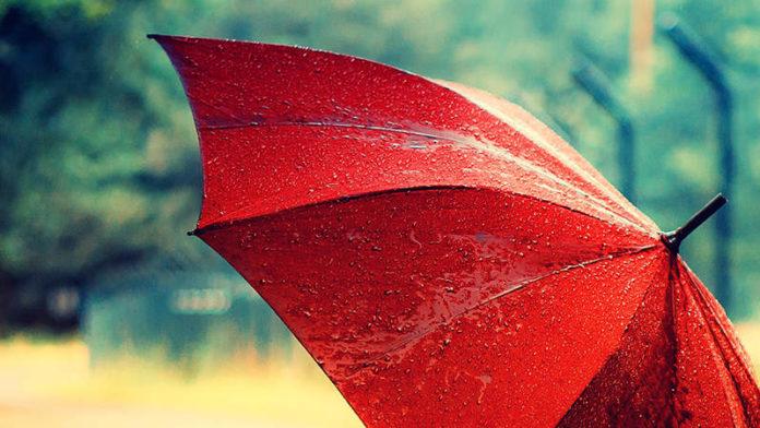 Зонтик и дождь