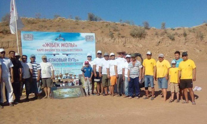 На Шардаринском водохранилище прошел турнир по ловле рыбы