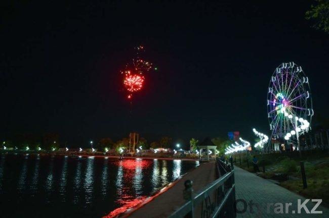 Фейерверк в честь открытия зоны отдыха «Жайлаукол»